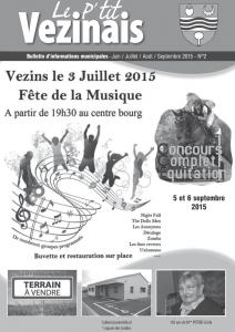 1ère Page - P'tit Vezinais n°2-2015