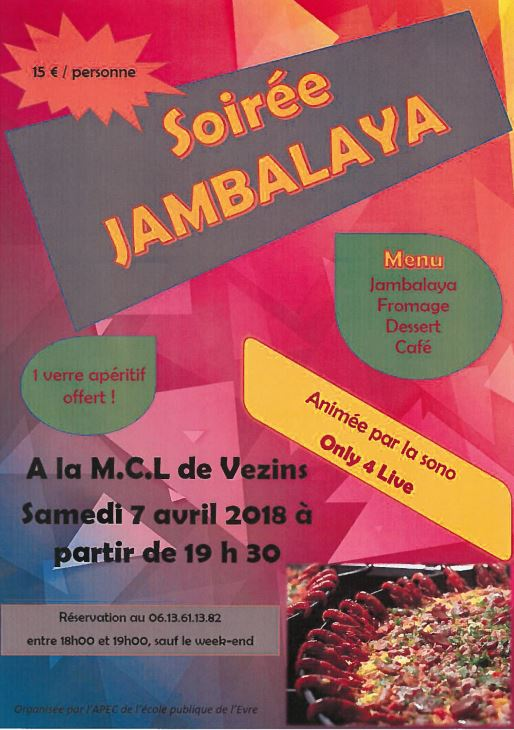 Soirée Jambalaya