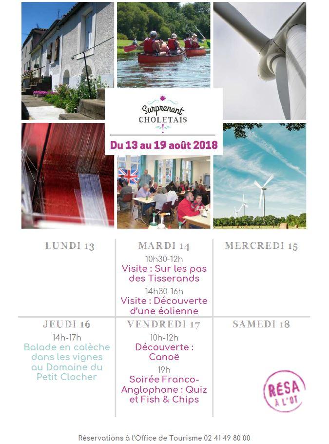 Office du Tourismes - Activités du 13 au 19 août