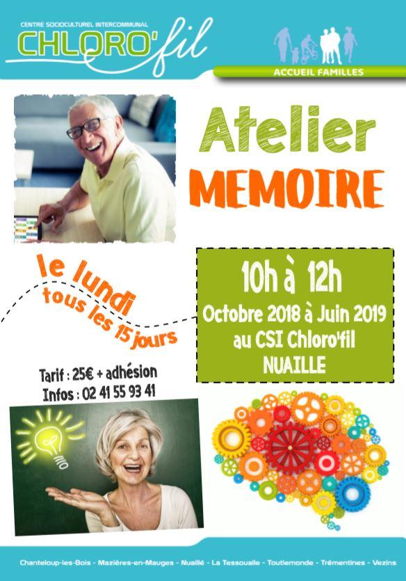 Chloro'fil - Atelier mémoire - Octobre à Juin 2018-2019
