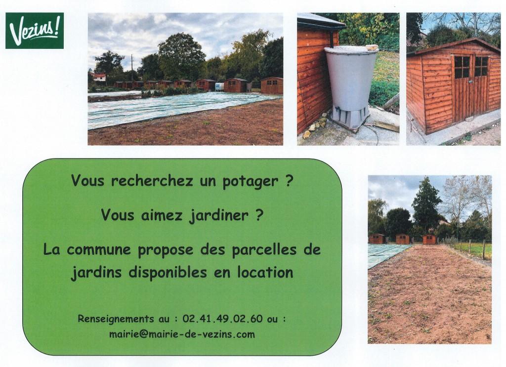 Jardins communaux - Affichage borne et site