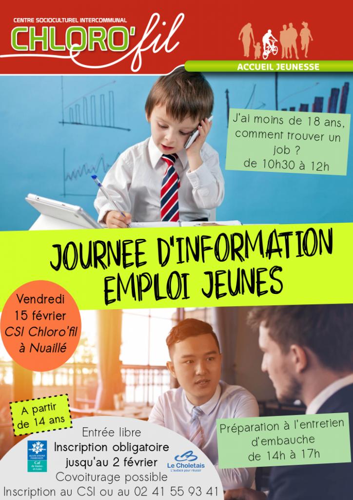 Journée d'information emploi jeunes - Chloro'fil - Vendredi 15 février 2019