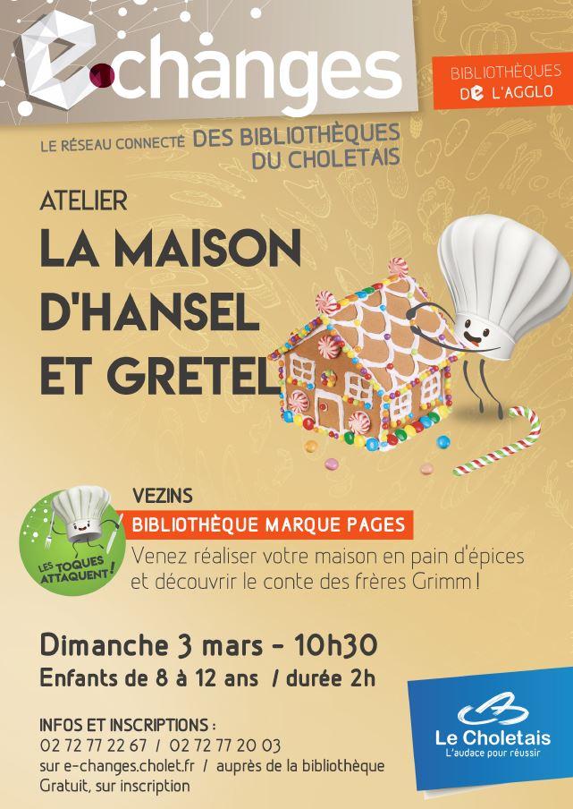 Bibliothèque du Choletais - Atelier la Maison d'Hansel et Gretel - Dimanche 3 mars