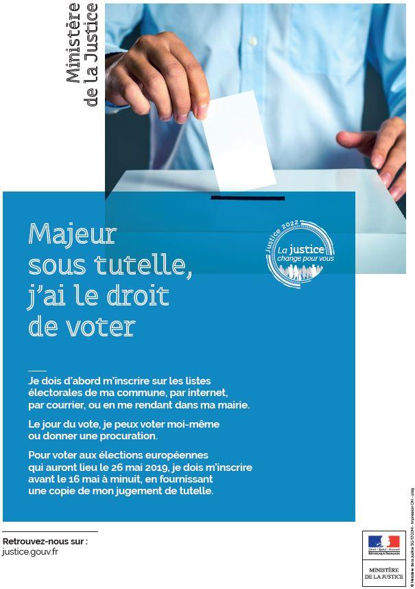Ministère de la justice - Majeur sous tutelle droit de vote