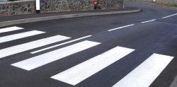 Travaux de peinture routière sur la commune