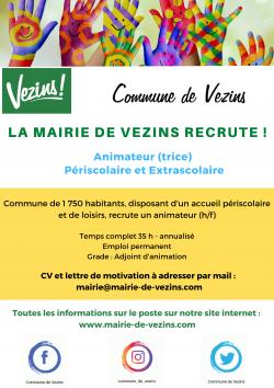 La Mairie de Vezins recrute