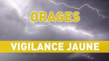 PREF 49 – VIGILANCE JAUNE ORAGES
