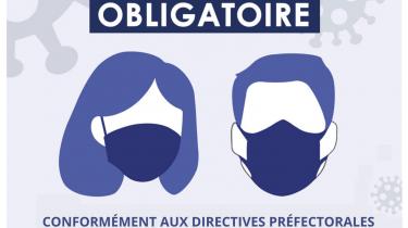 Port du masque obligatoire – Maine-et-Loire