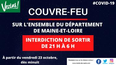 Instauration d'un couvre-feu sur le Maine-et-Loire