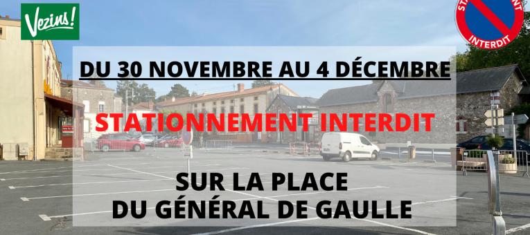Travaux place du Général de Gaulle