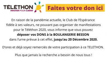 AFM Téléthon – Appel aux dons