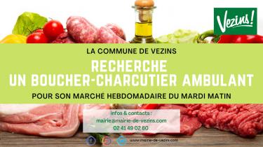Marché de Vezins recherche boucher-charcutier