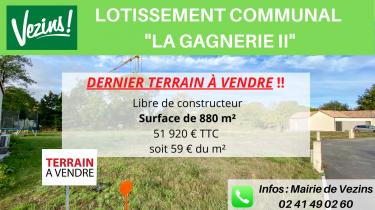 La Gagnerie – Un dernier terrain est à vendre !