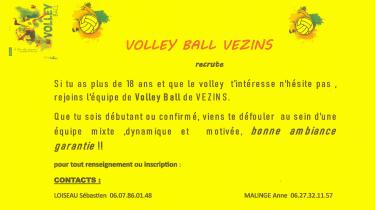 Association – Rejoignez l'équipe du Volley Ball !